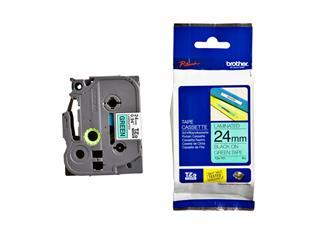 Labeltape Brother P-touch TZE-751 24mm zwart op groen