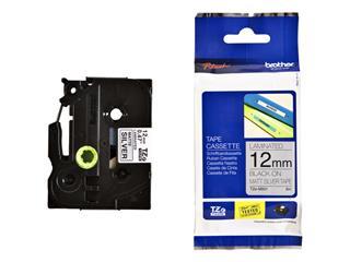 Labeltape Brother P-touch TZE-M931 12mm zwart op metalic