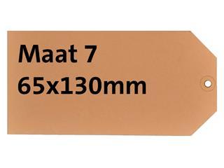 LABEL HF2 NR7 65X130MM KARTON 200GR CHAMOIS+RING