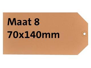 LABEL HF2 NR8 70X140MM KARTON 200GR CHAMOIS
