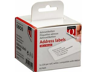 Labeletiket Quantore 99014 54x101mm badge wit