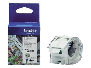 Labeletiket Brother CZ-1003 19mmX5m kleur opdruk