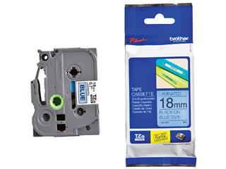 Labeltape Brother P-touch TZE-541 18mm zwart op blauw