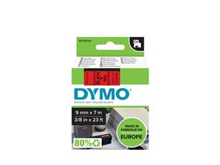 Labeltape Dymo 40917 D1 720720 9mmx7m zwart op rood