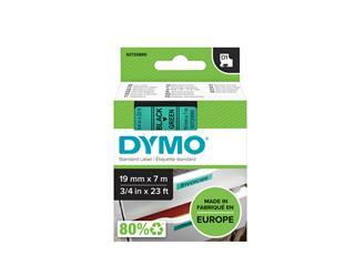 Labeltape Dymo 45809 D1 720890 19mmx7m zwart op groen