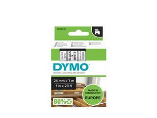 Labeltape Dymo 53713 D1 720930 24mmx7m zwart op wit