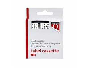 Labeltape Quantore 40913 9mmx7m zwart op wit
