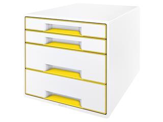 Ladenblok Leitz WOW Cube 4 laden wit/geel