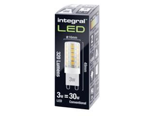 Ledlamp Integral G9 3W 4000K koel licht 320lumen