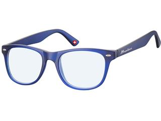 Leesbril Montana blue light filter +2.50 dpt blauw