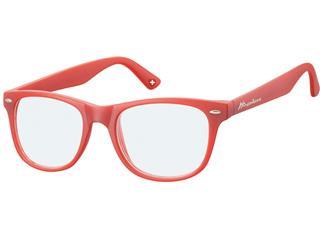 Leesbril Montana blue light filter +2.50 dpt rood