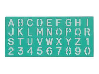 Lettersjabloon Linex 30mm hoofdletters/letters/cijfers