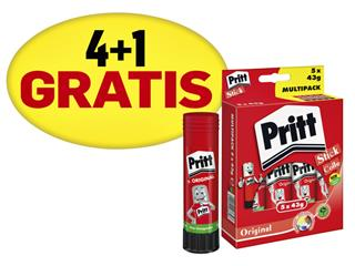 Lijmstift Pritt 43gr promopack 4+1 gratis