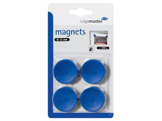 Magneet Legamaster 35mm 1000gr blauw 4stuks