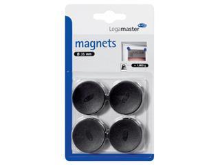 Magneet Legamaster 35mm 1000gr zwart 4stuks