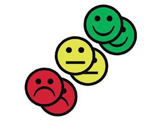 Magneet smiley 25mm 2x geel 2x groen 2x rood