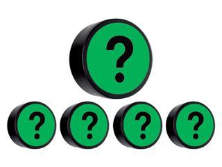 Magneet vraagteken 35mm groen