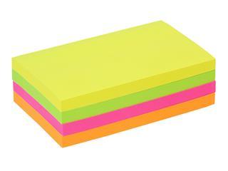 Memoblok Quantore 76x127mm neon assorti 4 kleuren
