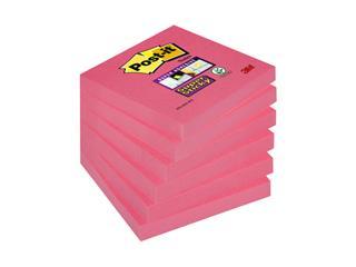 Memoblok 3M Post-it 654 Super Sticky 76x76mm poppy