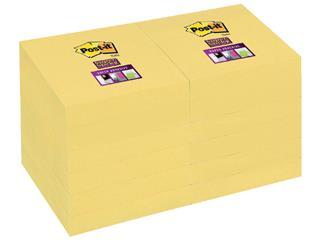Memoblok 3M Post-it 656 Super Sticky 47.6x76mm geel