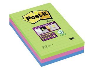 Memoblok 3M Post-it 660 Super Sticky 102x152mm lijn rainbow