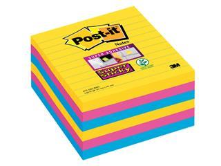 Memoblok 3M Post-it 675 Super Sticky 101x101mm lijn Rio