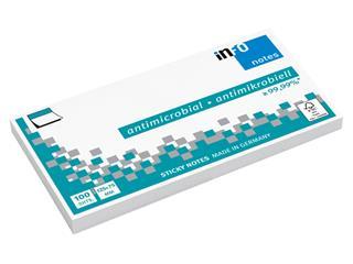 Memoblok Info Notes antimicrobiëel125x75mm wit