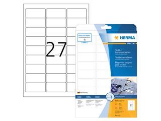 Naambadge etiket Herma 4511 63.5x29.6mm wit