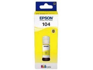 Navulinkt Epson 104 T00P350 geel