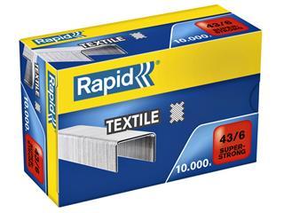 Nieten Rapid 43/6 textiel gegalvaniseerd strong 10000 stuks