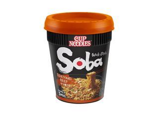 Noodles Nissin Soba sukiyaki beef cup