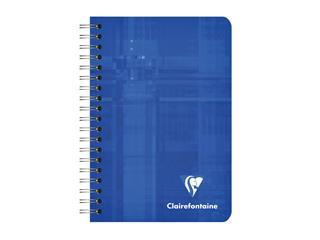 Notitieboek Clairefontaine A7+ 95x140 ruit 5x5 100blz 90gr assorti