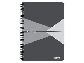 Notitieboek Leitz Office A5 lijn karton grijs