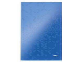 Notitieboek Leitz WOW A4 lijn blauw