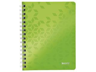 Notitieboek Leitz WOW A5 lijn spiraal PP groen