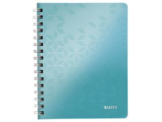 Notitieboek Leitz WOW A5 spiraal PP lijn ijsblauw