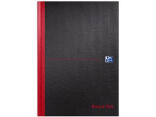 Notitieboek Oxford Black n' Red A4 96vel blanco zwart