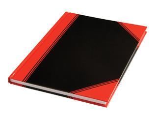 Notitieboek zwart/rood A4 lijn 60gr 96vel