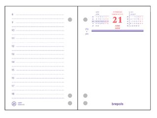 Omlegblok 2022 Brepols 3 boorgaten 1 dag/2 pagina 8.4x12cm