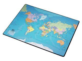 Onderlegger Esselte 40x53cm met wereldkaart Nederlands
