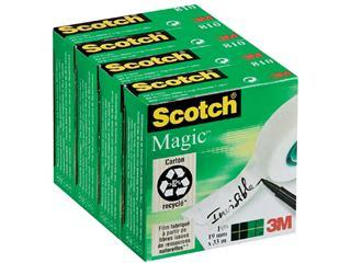 Plakband Scotch Magic 810 19mmx33m onzichtbaar mat