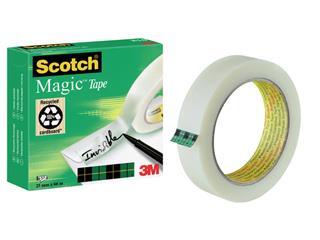 Plakband Scotch Magic 810 25mmx66m onzichtbaar mat