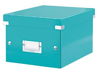 Opbergbox Leitz WOW Click & Store 200x148x250mm ijsblauw