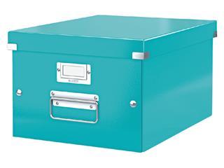 Opbergbox Leitz WOW Click & Store 265x188x335mm ijsblauw