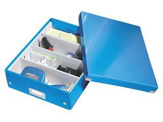 Sorteerbox Leitz WOW Click & Store 280x100x370mm blauw