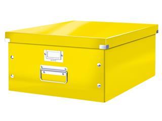 Opbergbox Leitz WOW Click & Store 369x200x482mm geel