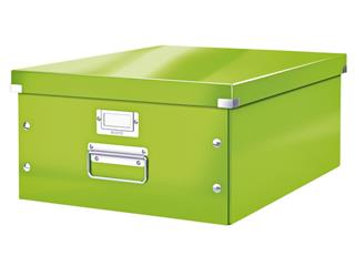Opbergbox Leitz WOW Click & Store 369x200x482mm groen