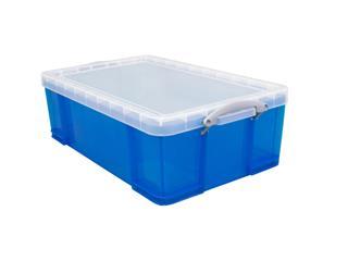 Opbergbox Really Useful 50 liter 710x440x230 mm transparant blauw
