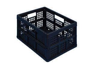 Opbergkrat Really Useful 32 liter 470x342x234 mm opvouwbaar zwart