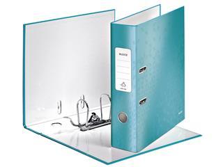 Ordner Leitz WOW 180° A4 80mm karton ijsblauw